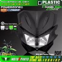 Powerzone Motorcycle Universal Headlight Fit IRBIS TTR250 KLX150 125 250 KAYO T4 T6 Pit Pro Dirt Bike Motocross