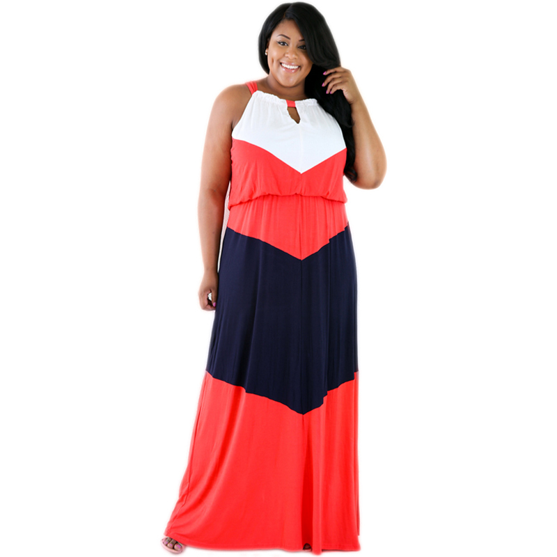 Plus Size Striped Summer Style Maxi Dress XXXL Beach Casual Party  Dress Spaghetti Strap Sexy With Shoulder Long Dress Vestidos