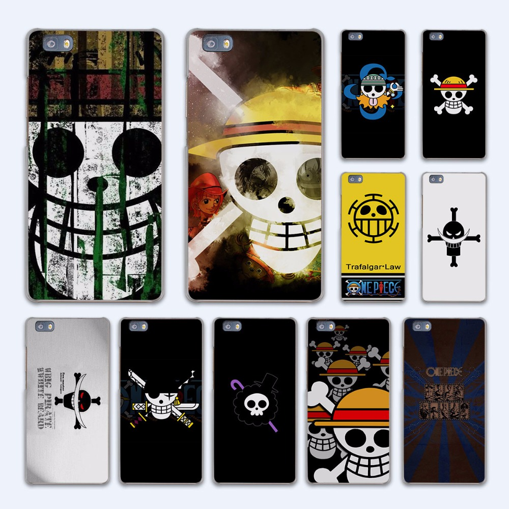 one piece luffy logo anime design hard transparent Case Cover for Huawei P10 P8 P9 lite P7 Mate 7 8 Mate9 Mate S