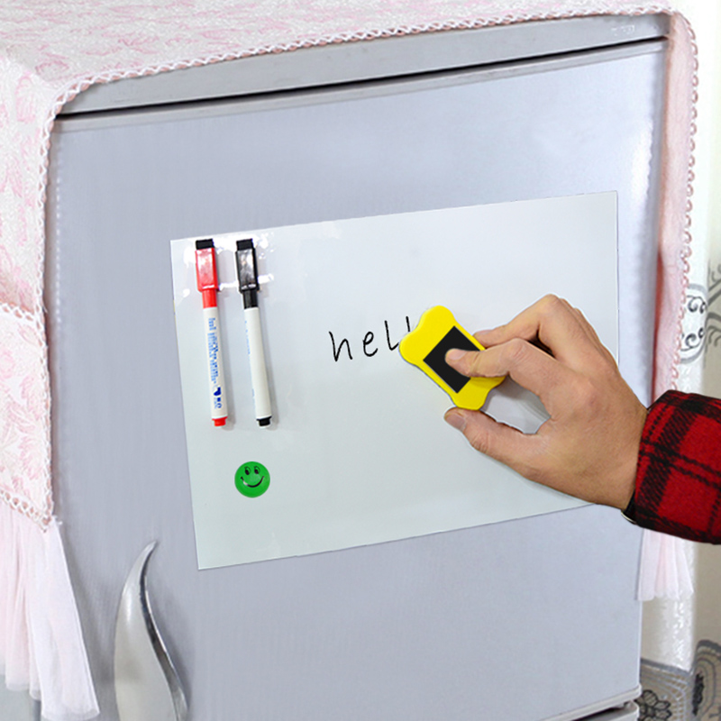 YIBAI Magnet Whiteboard A3 29.7*42cm Flexible Fridge Magnets White board Waterproof Drawing Message Marker Board With Free Gift greeting word style fridge magnets 4 pack
