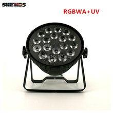 LED Par Puede 18×18 W RGBWA + UV Luz de Luz de Alta Potencia Luces de la Etapa de DMX de Negocios con Profesionales para el Partido KTV Del Disco de DJ