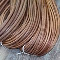 5Y/lot 1 1.5 2 2.5 3 4 mm Genuine Cow Leather Cord Bracelet Necklace Findings Round Leather Rope String Jewelry Making Findings