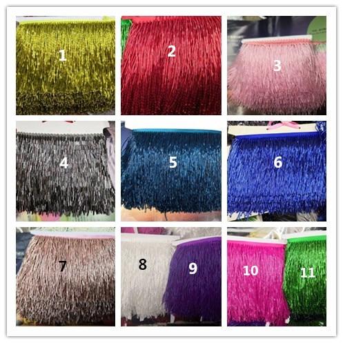 11 colores Venta caliente plata con cuentas flecos Ribbon flecos borla encaje ajuste sat 62706 para vestido de fiesta-in encaje from Hogar y Mascotas    1