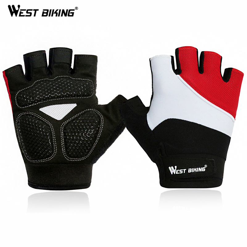 Bike Gloves Thick Pad Shockproof Breathable Mountain MTB DH Road Riding Cycling