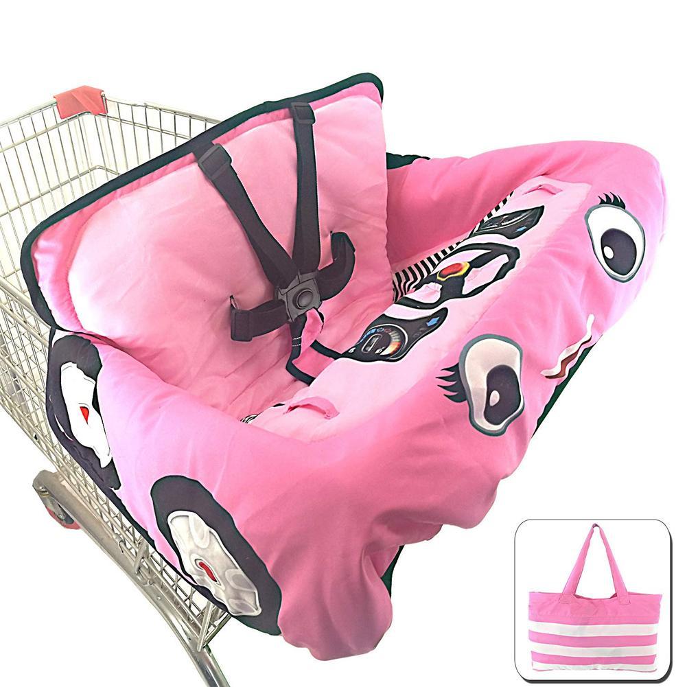 Детская магазинная Тележка для покупок Подушка к обеденному стулу Защитная переносная подушка для путешествий с карманами уход за ребенком - Цвет: B