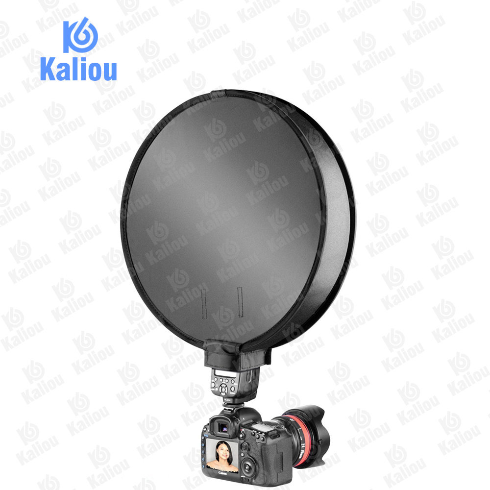 Image 3 - Kaliou 40cm Round Universal Portable Speedlight Softbox Flash Diffuser On top Soft Box for Camera-in Softbox from Consumer Electronics