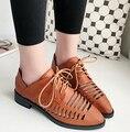 Новая коллекция весна и лето 2016 женская обувь с восстановление древних путей Британский досуг женский выдалбливают повседневная обувь zapatos mujer
