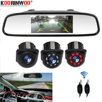 Koorinwoo Fog Anti Punch Invisible Infrared Lights Car Rear View camera LED Lights Monitor Digital 800P Car Parking Reverse Cam
