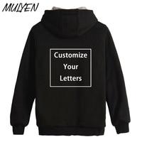 MULYEN Novelty Custom Made Design Zipper Hoodies Men Women Unisex DIY Sweatshirt Thick Warm Autumn Winter
