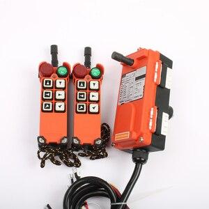 Image 3 - 2 transmitter 1 Receiver F21 E1 emergency stop mushroom head crane driving hoist industrial wireless remote control 24V 36V 220V