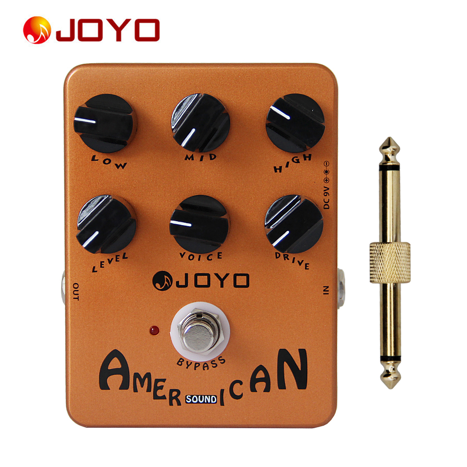 JOYO JF-14 American Sound True Bypass Pedal with Guitar Pedal Connector / Electric Guitar Accessories joyo guitar effects pedals jf 32 hot plexi true bypass design wholesale cheap 1 pc pedal connector free shipping