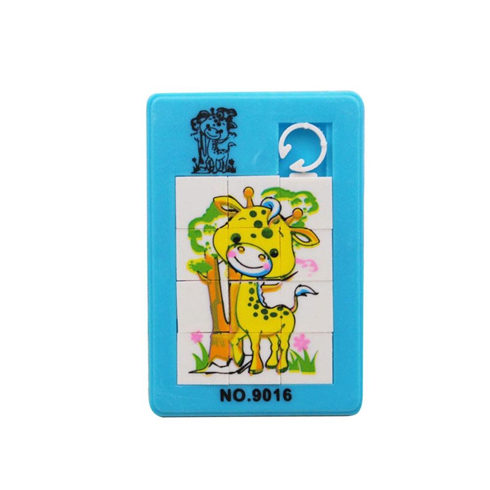 Новинка забавная раздвижная головоломка пластиковая мини-Математика случайное развитие игрушек для девочек - Цвет: Animal random