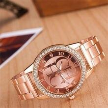reloj mujer New Famous Brand Luxury Watch Women Fashion Crystal Dress