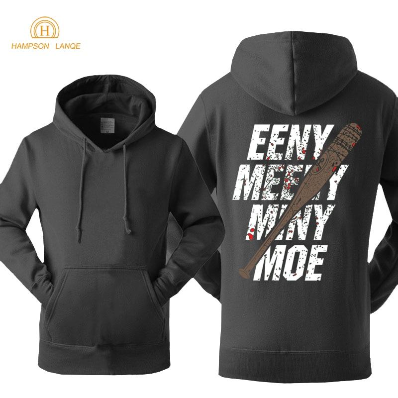 The Walking Dead Eeny Meeny Miny Moe Negan Lucille Hoodies Men 2019 Spring Autumn Sweatshirts Men Hip Hop Hoodies Brand Jackets