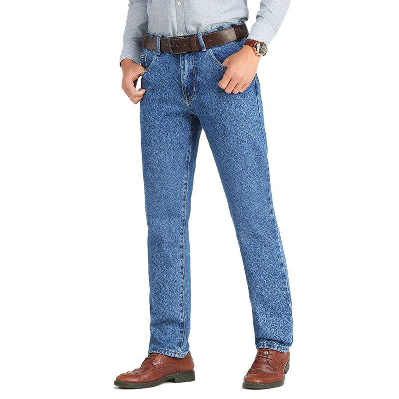 Image 4 - Men Business Jeans Classic Spring Autumn Male Skinny Straight Stretch Brand Denim Pants Summer Overalls Slim Fit Trousers 2019-in Jeans from Men's Clothing