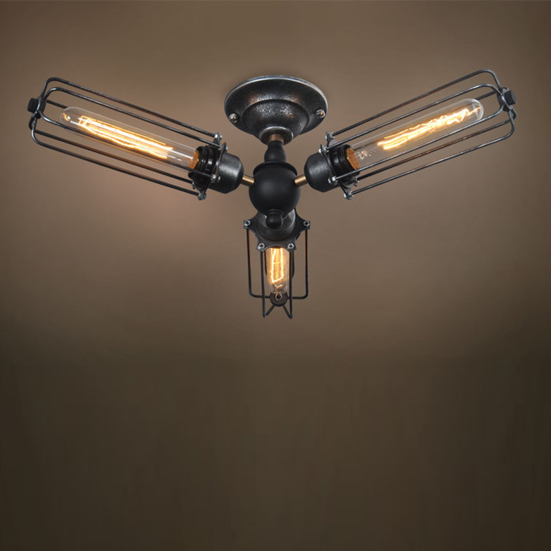 Retro Wrought Iron Ceiling Lights
