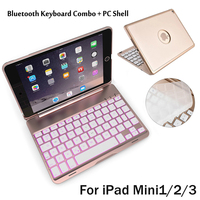 For IPad Mini2 3 4 7 Colors Backlit Light Wireless Bluetooth Keyboard Case Cover For IPad