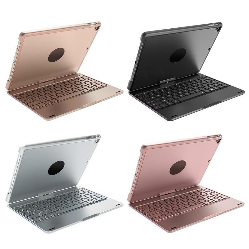 ALLOYSEED вращающийся задняя крышка Алюминий Bluetooth клавиатура ж/Подсветка для iPad Air для iPad Air2 для iPad Pro 9,7 планшетный ПК