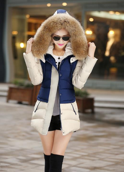 AQ207 2015 wadded winter jacket women medium-long plus size thick cotton-padded parkas women jacket linenall women parkas loose medium long slanting lapel wadded jacket outerwear female plus size vintage cotton padded jacket ym