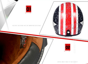 Image 2 - Helmets for Cross country Motorcycles Sunscreen Locomotives Half helmets Four season Electric Vehicle Safety Helmet