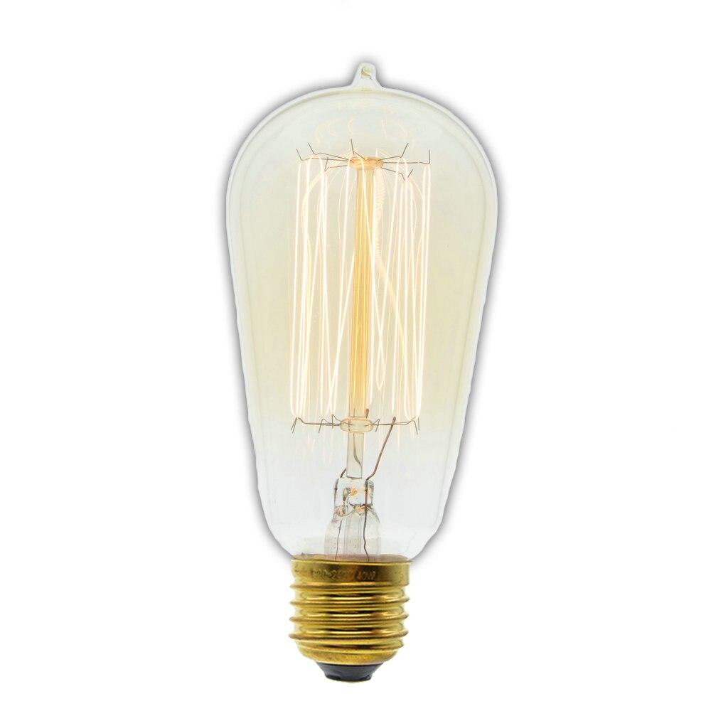 Retro Edison bulbs 220V Incandescent Vintage Bulb E27 40W Retro Edison Style Light Bulbs ST58 tungsten Decorative lamp