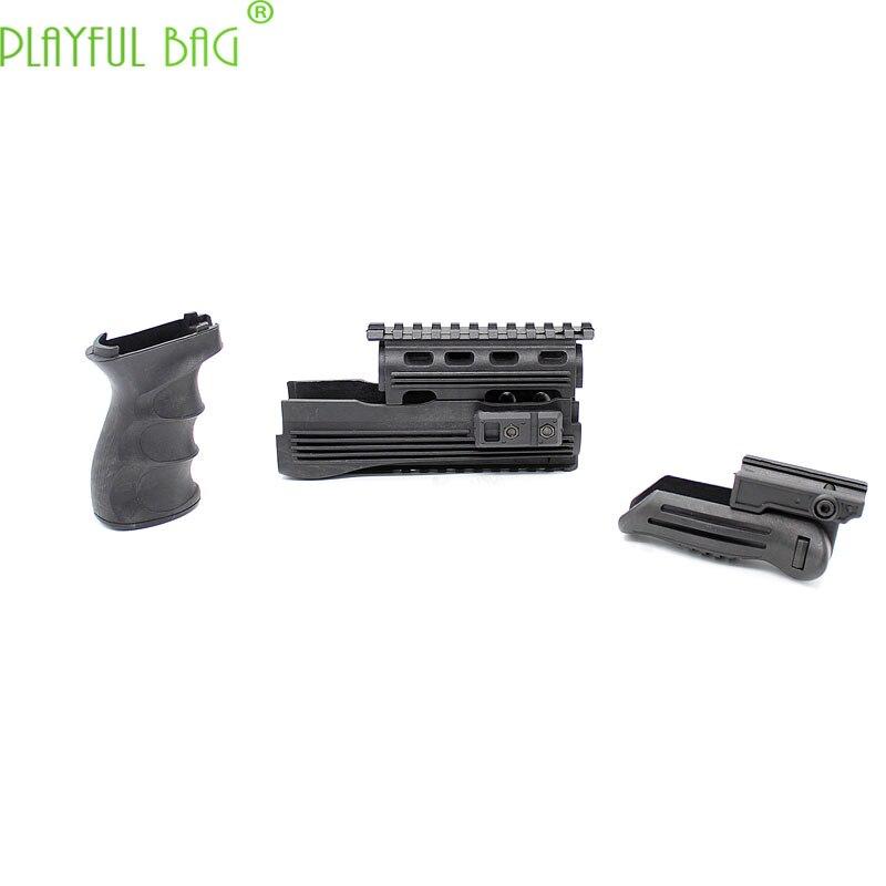 Activité de plein air CS jouet pistolet à balle d'eau AK47 poignée tactique en Nylon spécial protection à bec de canard poignée de guidage en bois LI61