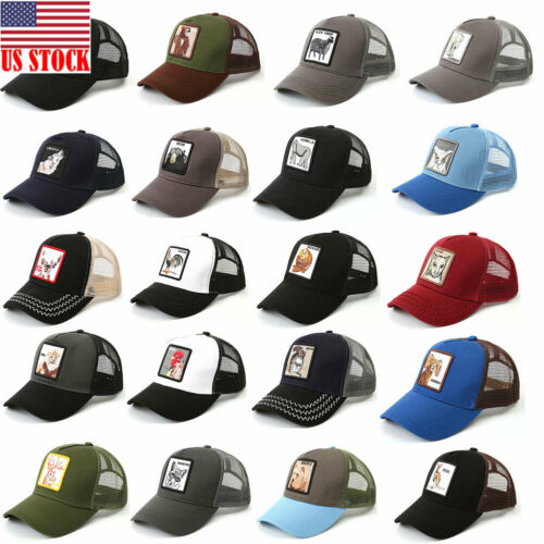 2019 New Bros   Baseball     Cap   Men Women Animal Farm Trucker Eye Of The Tiger Cas Hat Woodpecker Lion