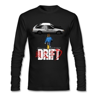 Drift Initial D AE86 T Shirt Manica Lunga T-Shirt Hiphop Cotone di Vendita Calda Mens T Shirt