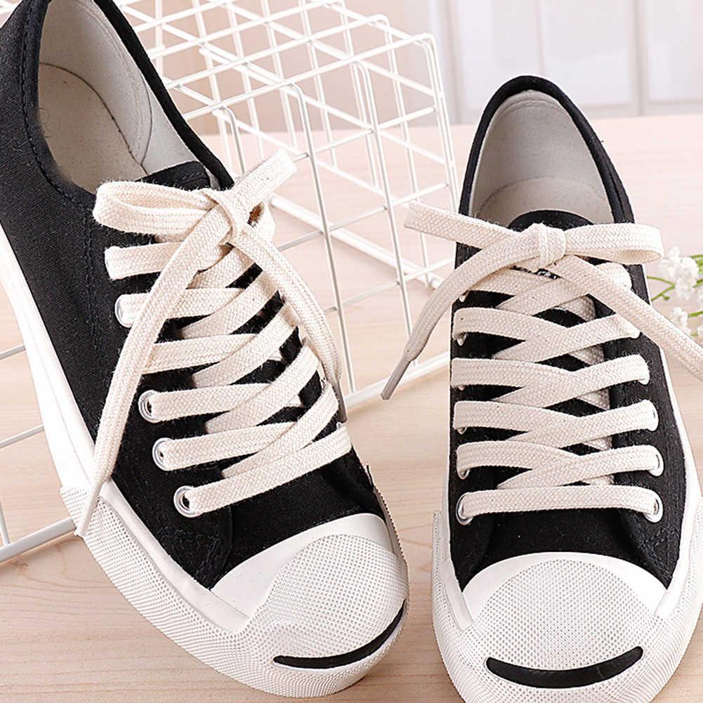 1 คู่รองเท้าผ้าฝ้าย Laces ผ้าใบความยาว Double Layer Shoelaces Unisex กีฬากลางแจ้งรองเท้า 100- 160 ซม.