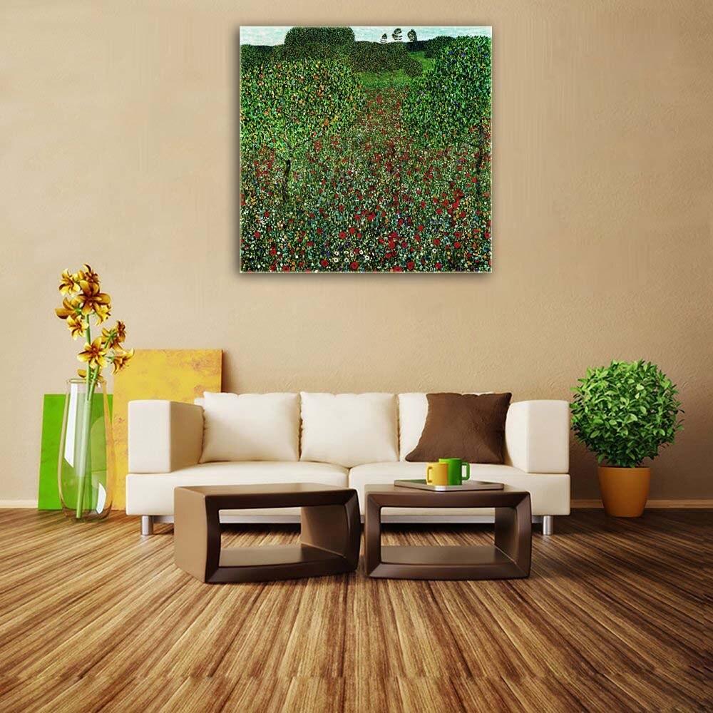 ✅Gustav Klimt reproducción impresa pintura al óleo sobre lienzo ...