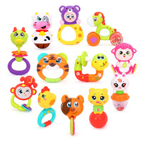 100 Brand New Zodiac 12 Animal Style Baby Toy Rattle Baby Christmas Gift Kids Sound Music
