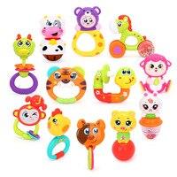 100 Brand New Zodiac 12 Animal Style Baby Toy Rattle Baby Christmas Gift Kids Sound Music