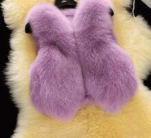 2015 новое поступление бесплатная доставка зима женщины меховой жилет высокая – класс мода роскошные тонкий искусственного фокс платок женский пальто s-xxxl Большой размер
