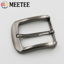 Meetee 5pcs 40mm Alloy Belt Buckle Metal Pin DIY Mens Jeans Clothing Accessories Leather Craft Materials BD379