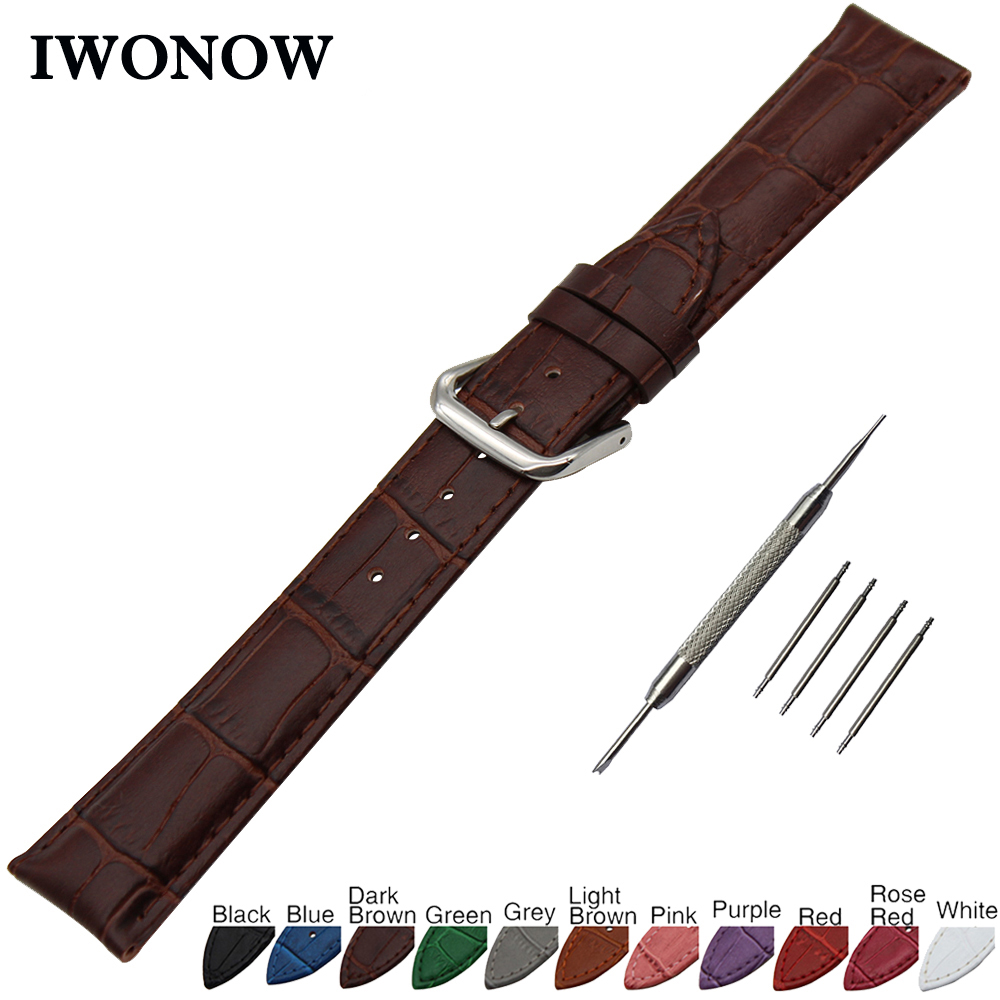 все цены на Croco Genuine Leather Watch Band 18mm 19mm 20mm 21mm 22mm 24mm for Jacques Lemans Stainless Steel Buckle Strap Wrist Bracelet онлайн