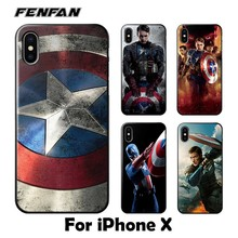 ФОТО soft silicone tpu for coque iphone x case captain america cover 2017 new arrivals for fundas iphone x case