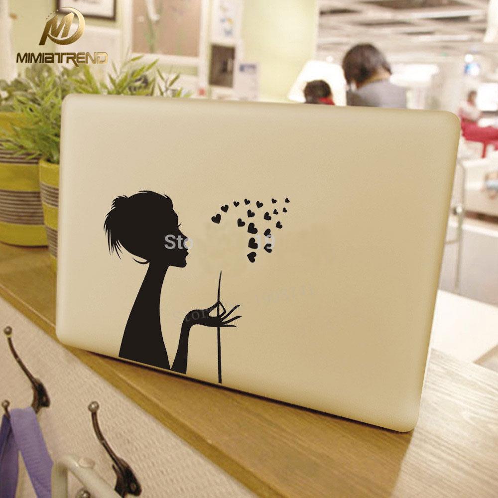 Mimiatrend Beautiful Girl Decal laptop Sticker for Macbook Pro Air Retina 11 13 15.4 Inch Mac Case Cover Skin Adesivo Pegatina