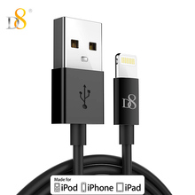 D8 1M / 3m MFi Mobile Phone Cables for iPhone XS MAX XR X 8 7 Plus 6s 5 USB Cable to USB Cable for iPad 4 mini Air iOS 8 9 10