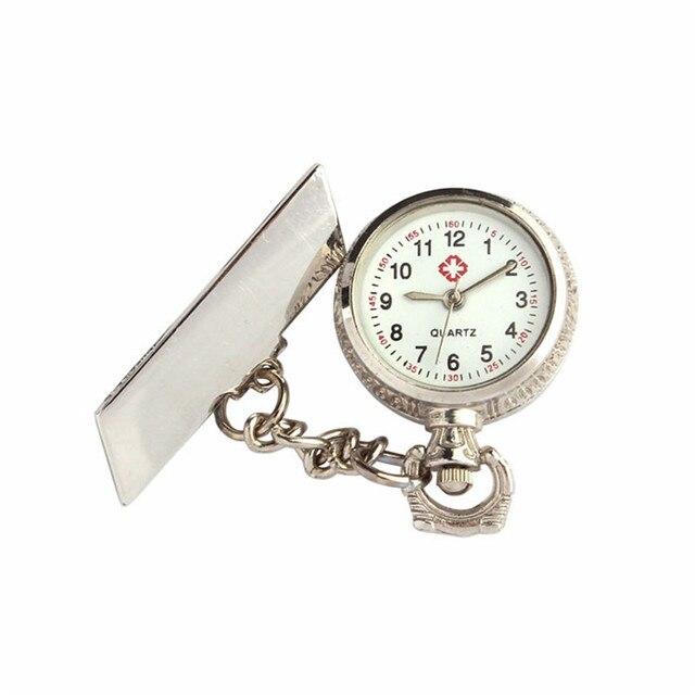 Pocket Watches Unisex Men women watches Arabic Metal Fibula Nurse White Dial Qua