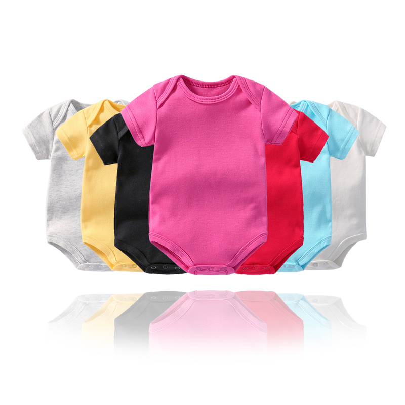 Baby Girl Bodysuits Short Sleeve Baby Bodysuit For Newborns Cotton Body For Babies Children Boy Twin Clothes Baby Girl Onesie