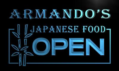 x0257-tm Armandos Japanese Food Open Custom Personalized Name Neon Sign Wholesale Dropshipping On/Off Switch 7 Colors DHL