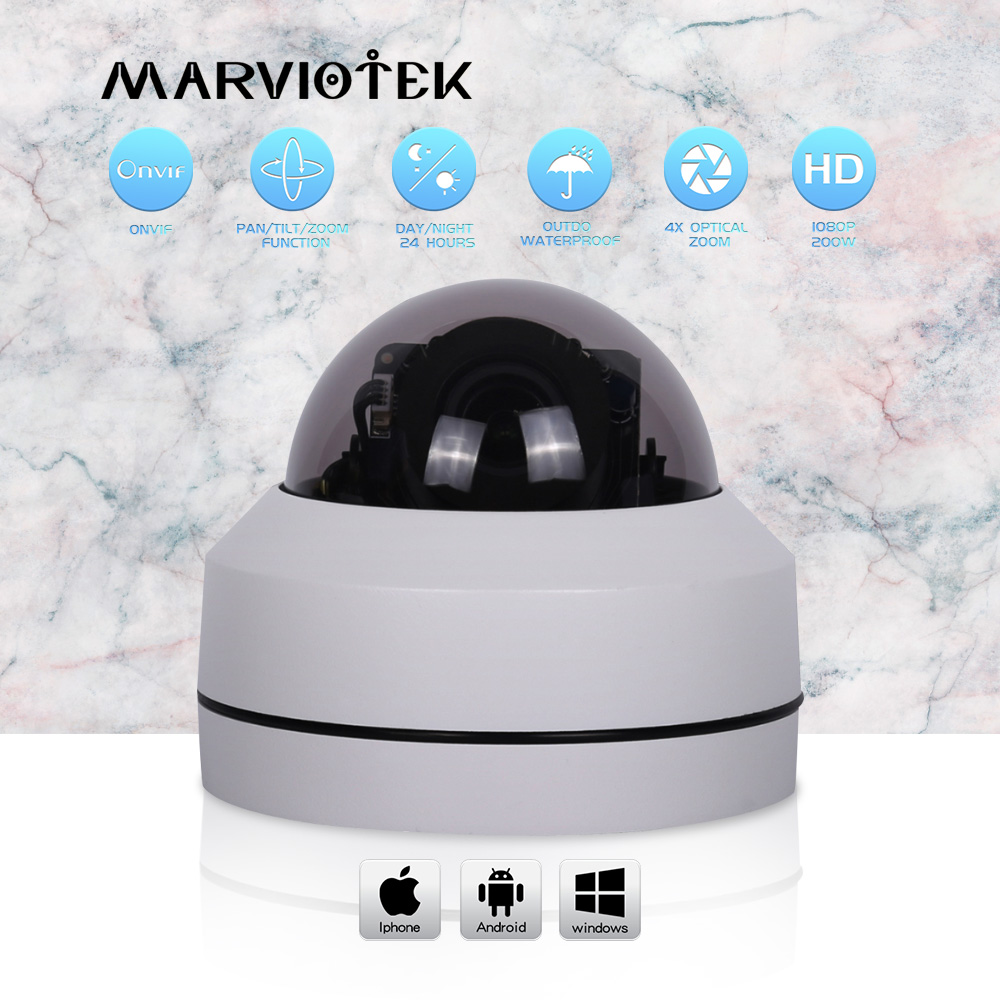 Mini caméra ptz ip vision nocturne caméra de vidéosurveillance 1080 p surveillance vidéo 4X zoom optique 5MP caméras IP en plein air p2p POE en option IR
