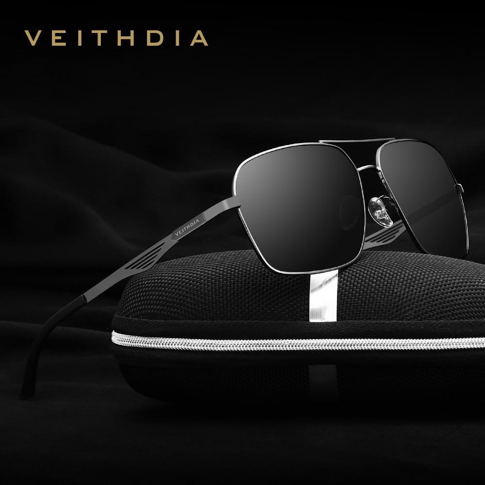 VEITHDIA Brand Polarized Men's Square Vintage Sun Glasses Male Eyewear Accessories Sunglasses For Men Gafas Oculos De Sol 2459