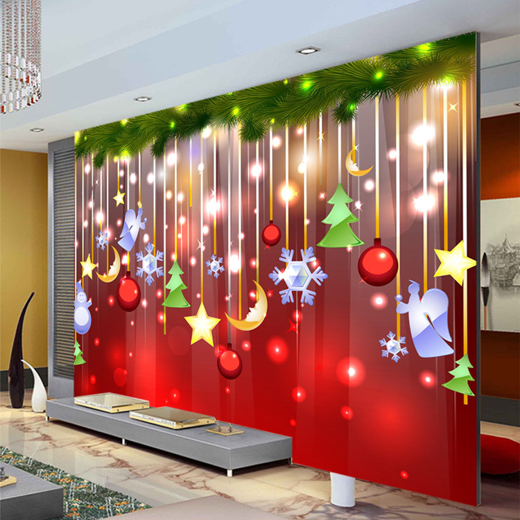 Buy christmas decoration wallpaper lovely for Christmas wall mural plastic