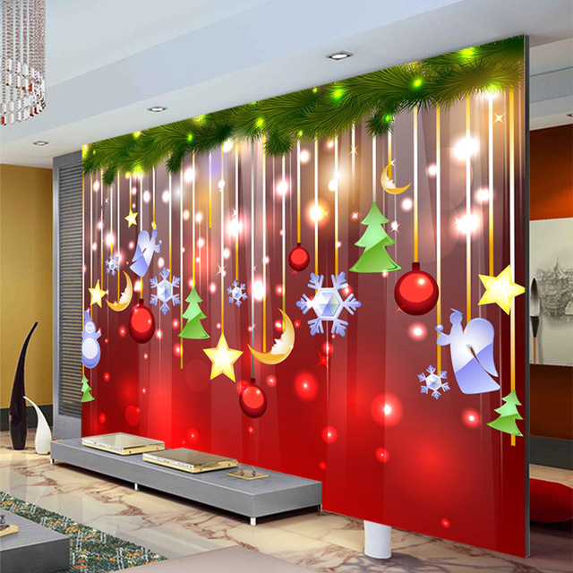 Buy christmas decoration wallpaper lovely - Como hacer un mural ...
