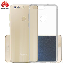 TPU Case For Huawei honor 8 case Transparent Ultra-thin Soft Clear Luxury Back TPU Cover Slim Sample Shockproof Camera Protectiv(China)