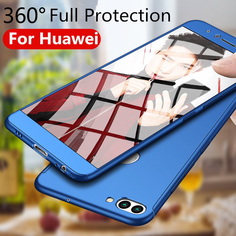 3in1 Case For Huawei P9 P10 Lite Back Cover Hard PC 360 Full Protective Phone Case For Huawei Mate 10 Honor 8 9 Lite Nova 2 Plus