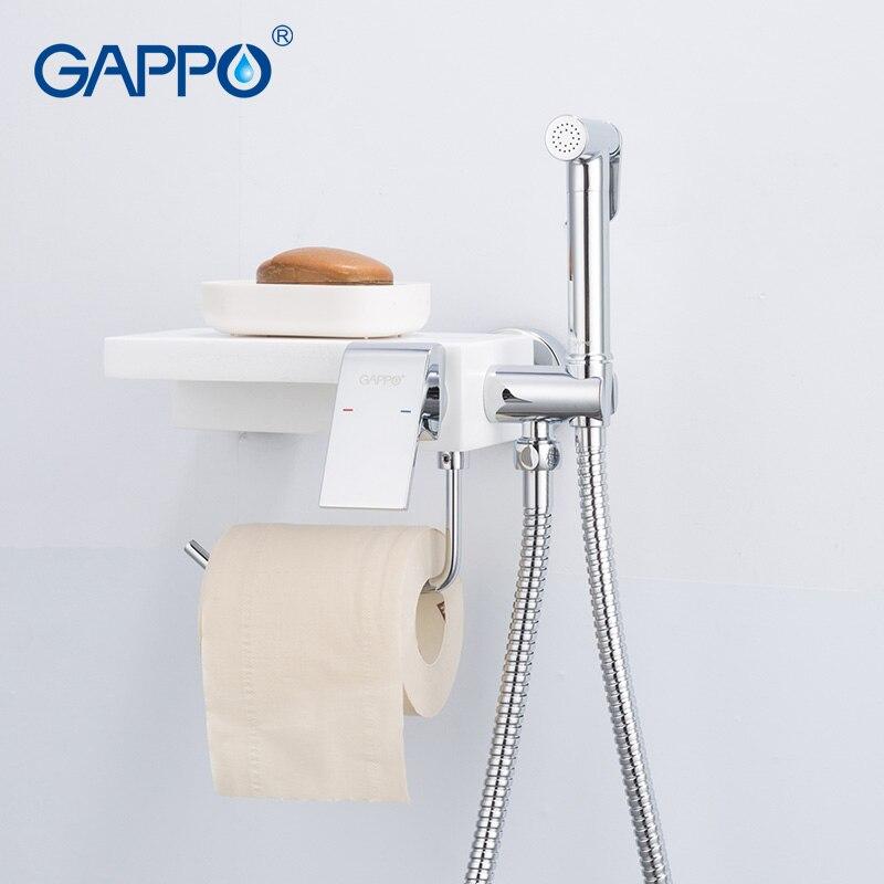 GAPPO torneiras chuveiro bidé pulverizador bidé sanita bidé torneira multifuncional água de toalete bidé torneiras para banheiro prateleira titular