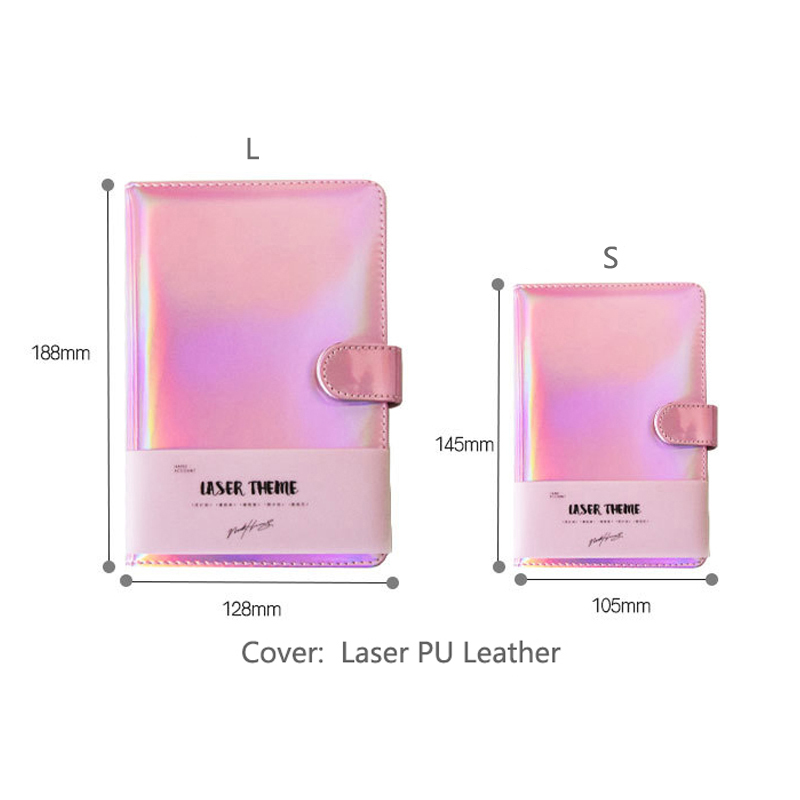 Cute Laser Notebook Notepad Pink Kawaii Planner Scrapbook Gift  Soft Cover Creative School Supplies 2019 Bullet Journal Diary
