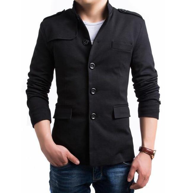2952650b0f2 Nuevas llegadas de moda de un solo pecho hombres del estilo corto gabardina  poliéster chaquetón outwear 2 Colores M XXL BY015 en Zanja de La ropa de  los ...